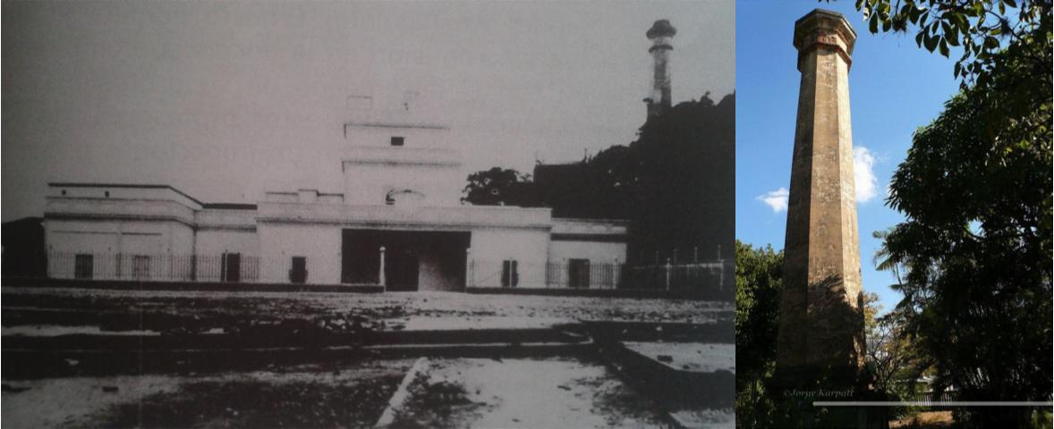 Casa del Trapiche de la Hacienda Ibarra. Demolida en 1954, hoy solo queda en pie la torre.