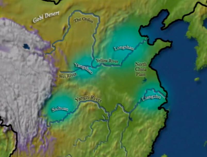 Sitios de desarrollo de las culturas neolíticas chinas distinguidas por la clase de cerámica que dejaron. Las más importantes son las culturas Yangshao, Longshan, Liangzhu y Sichuan.