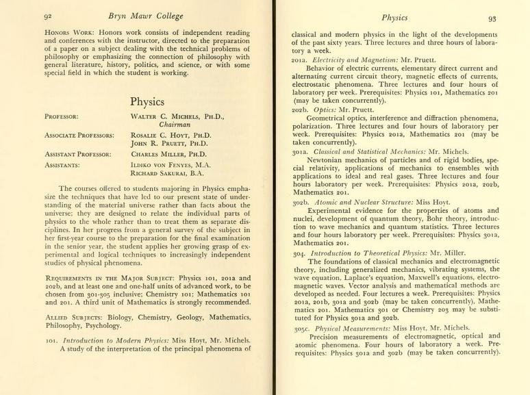 Bryn-Mawr-College-Calendar-Fenyes-Physics-1959-1961