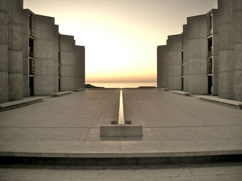 Salk was convinced that the monastery had influenced his mind. So convinced, in fact, that he solicited the architect Louis Kahn to design the Salk Institute in La Jolla, California, in hopes that other scientists might benefit from serene surroundings.