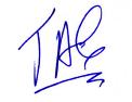 JAC short corta firma signature
