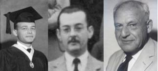 Desde la izquierda, Napoleón Arteaga (en su graduación como Licenciado en Física, UCV 1965), Fidel Alsina, y Guido Beck.
