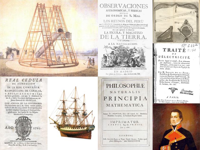 Collage Fisica España Siglo XVIII