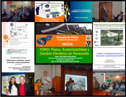 FORO Física, Sustentabilidad y Cambio Climático en Venezuela (Presentaciones y fotos)