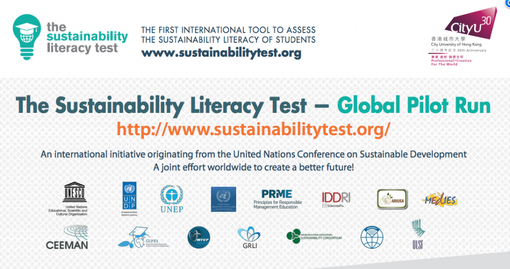 Sustainability literacy test
