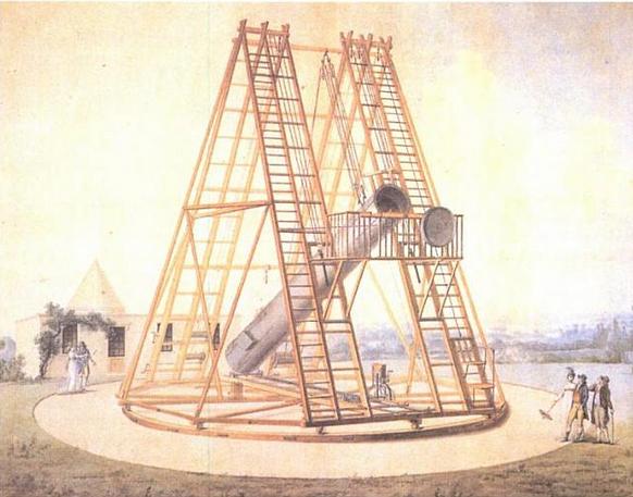Telescopio del Observatorio de Madrid construido por William Herschel