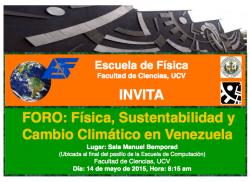 Foro Física, Sustentabilidad y Cambio Climático en Venezuela