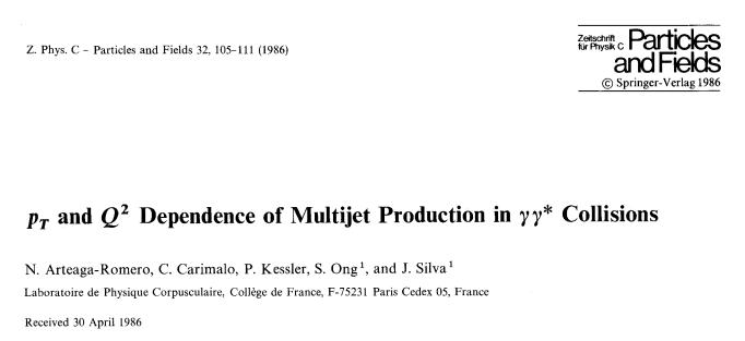 Articulo 1986 en Z. Physik