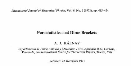 Kalnay Parastatistics