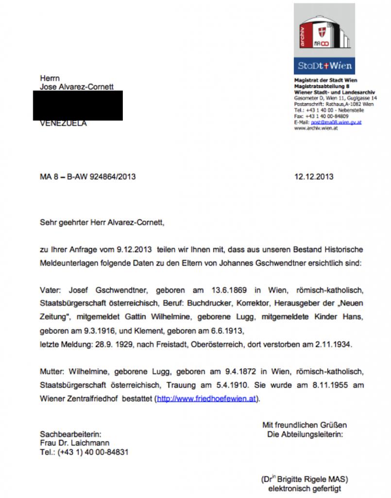 gschwendtner birth certificate